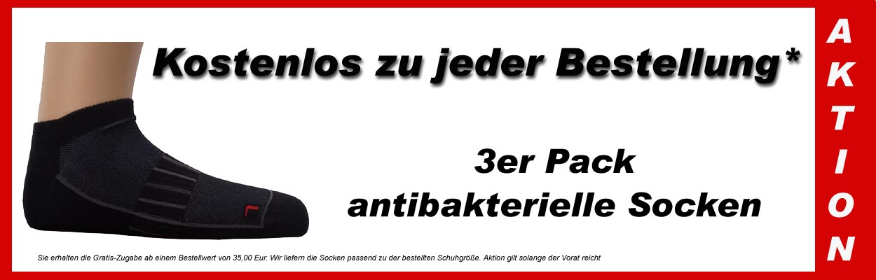 -AKTION- 3er-Pack antibakterielle Funktionssocken GRATIS