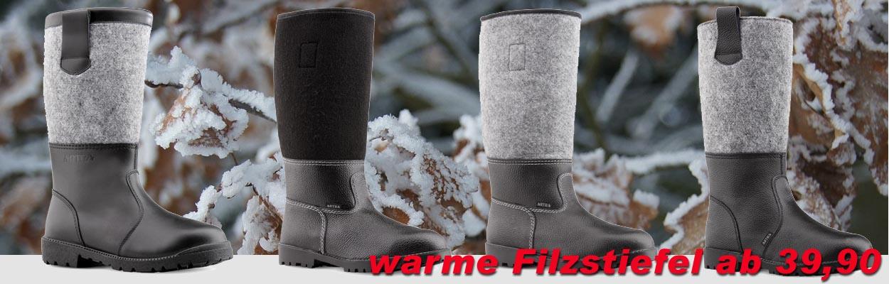 Warme Filzstiefel für Herbst und Winter. Tschüss...kalte Füße