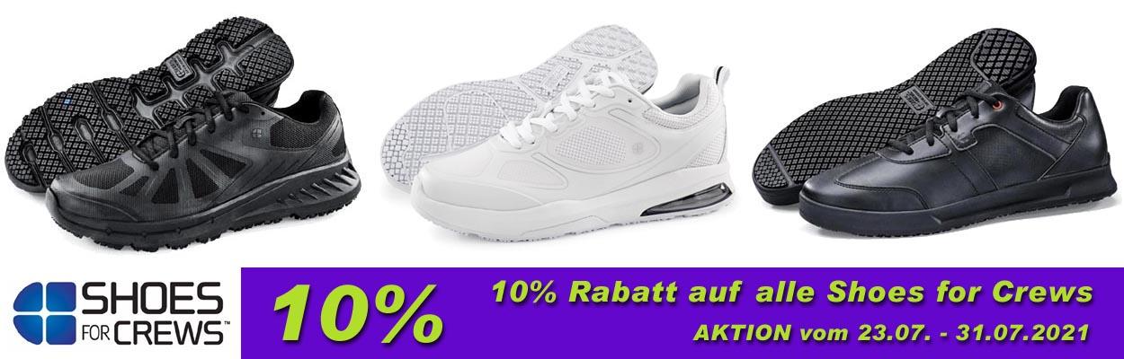 --AKTION-- 10% Rabatt auf alle Shoes for Crews. (23.07. - 31.07.2021)