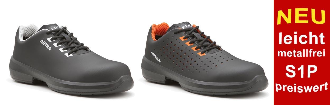 Neue S1P-Modelle von ARTRA, metallfreie Sicherheitsschuhe nur 44,90 ¤ / Paar