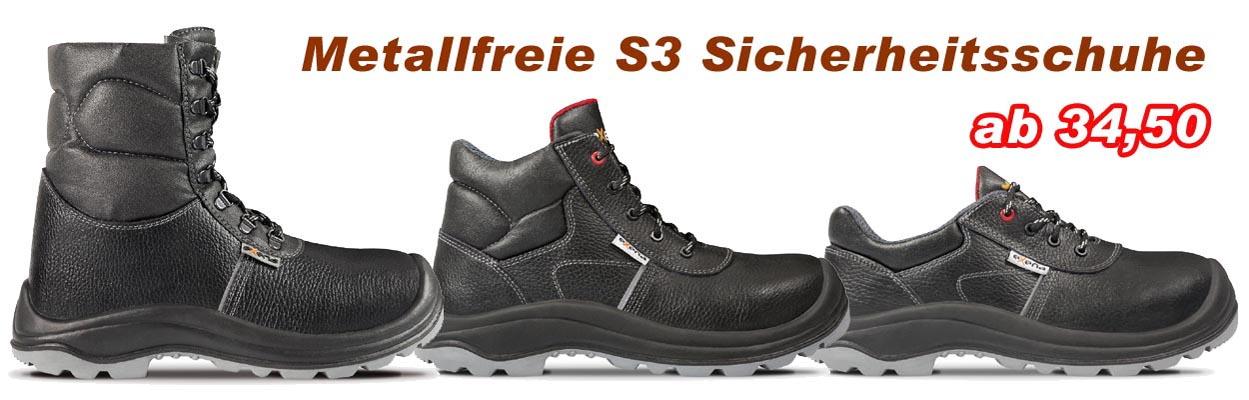 Unsere neuen preiswerten S3-Sicherheitsschuhe  --METALLFREI--
