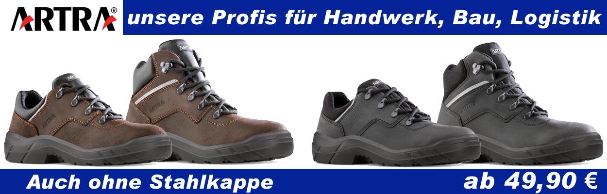 Sicherheitsschuhe von ARTRA. Premium-Komfort zum günstigen Preis.
