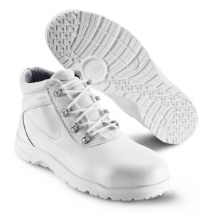 SIKA Premium-Arbeitsschuhe Fusion 19242, Stiefel mit Alu-Kappe SRC, Leder weiß
