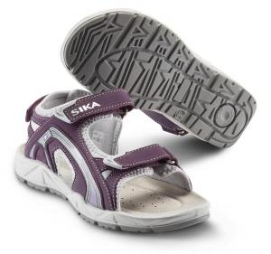 SIKA Motion Lady, Damen Funktions-Sandale 22206 für Beruf und Freizeit. 3x Klett, Leder lila