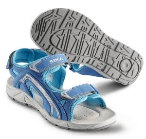SIKA Motion Lady, Damen Funktions-Sandale 22206 für Beruf und Freizeit. 3x Klett, Leder blau