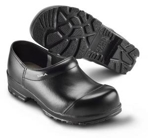 SIKA FLEX 88, Sicherheits-Clogs mit Stahlkappe S2,  breite Form, Leder schwarz Gr. 45  --SONDERPREIS--