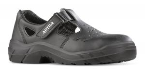ARTRA Armen 900-6660 Sicherheits-Sandale Arbeitsschuhe mit Perforation Klettverschluss Stahlkappe, S1