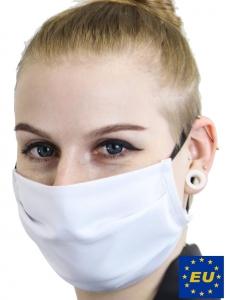 Mund-Nasen-Schutz, Alltagsmaske aus 100% Baumwolle mit Gummibändern, wiederverwendbare Mehrweg-Maske, 2-Lagig, 60°C waschbar