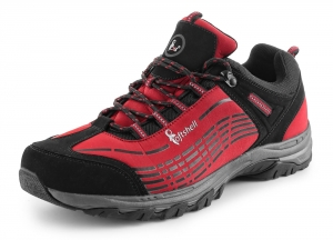 CXS SPORT red low, ultraleichte Softshell - Outdoorschuhe Trekking- Wanderschuhe, atmungsaktiv und wasserabweisend
