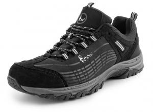 CXS SPORT black/grey low, ultraleichte Softshell - Outdoorschuhe Trekking- Wanderschuhe, atmungsaktiv und wasserabweisend