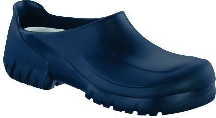 birkenstock pu clog a630 geschlossen blau mit kork fussbett. Black Bedroom Furniture Sets. Home Design Ideas