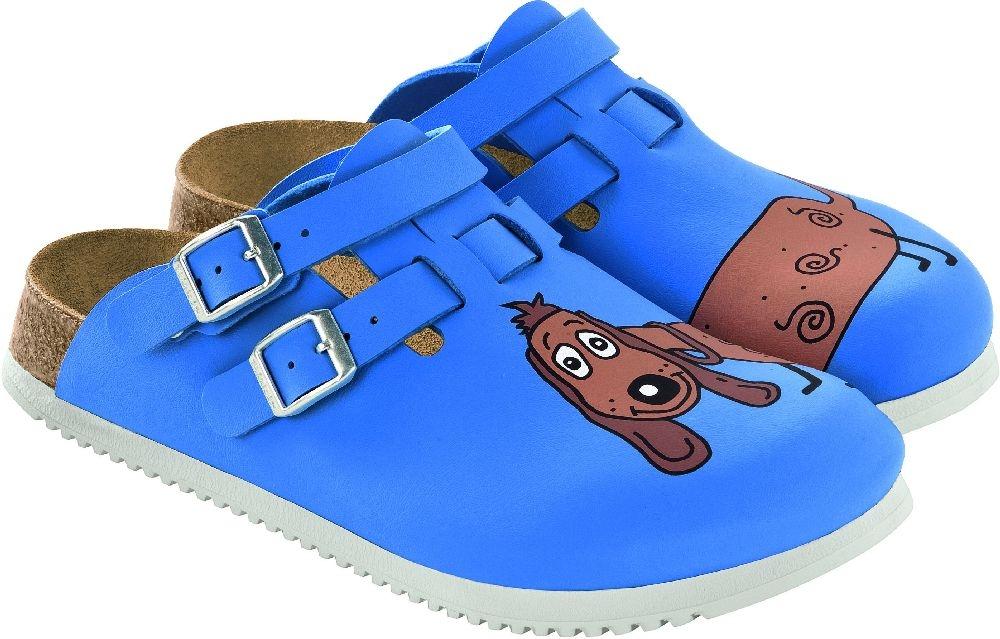 Birkenstock Kay dog blue 582536 mit Superlaufsohle BIRKENSTOCK Clogs Kay rutschfeste ...