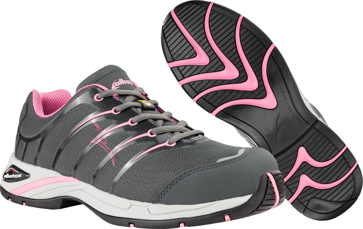 sale retailer 9b85a 3c6fb ALBATROS Twist pink low Damen Arbeitsschuhe S1P, ESD, 645200