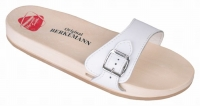 Berkemann Holzsandale 00100-100 Original-Sandale, weiß