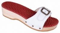 Berkemann HOLZ Noppen-Sandale mit Absatz weiß