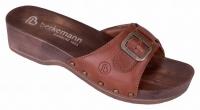 Berkemann Holz-Sandale mit Absatz, 00110-416, Modell Hamburg, Leder muskat
