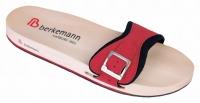 Berkemann HOLZ-Sandale Berkilette rot/schwarz