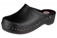 Berkemann Holzclogs 00407-900 Natur-Toeffler Leder, schwarz
