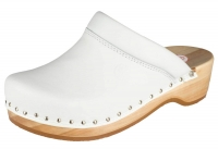BERKEMANN Holzclogs 00412-100 Soft Toeffler Leder, weiß