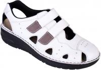 Berkemann BERKOFLEX Damen Sandale Sneaker LARENA, weiß