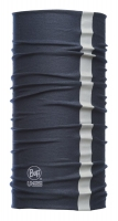Original BUFF DryCool Reflective, Multifunktionstuch mit Coolmax, dunkelblau