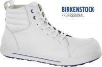 BIRKENSTOCK 1011236 Arbeitsschuhe high MIT Stahlkappe QS700 rutschfeste Sohle SRC S3, Leder weiß