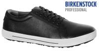 BIRKENSTOCK 1011244 Arbeitsschuhe OHNE Stahlkappe QO500 rutschfeste Sohle SRC, schwarz/weiß Leder