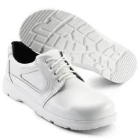 SIKA bequeme Arbeitsschuhe Optimax 172201, Schnürschuhe mit Stahlkappe S2, Leder weiß