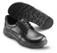 SIKA bequeme Arbeitsschuhe Optimax 172201, Schnürschuhe mit Stahlkappe S2,  Leder schwarz