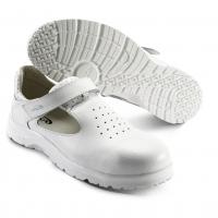 SIKA Premium-Arbeitsschuhe Fusion 19225, Klett-Sandale mit Alu-Kappe SRC, Leder perforiert weiß
