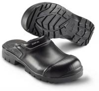 SIKA PROFLEX 19324, Sicherheits-Clogs mit Stahlkappe SB,  breite Form, Leder schwarz
