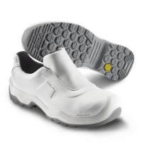 SIKA 202410 First, Komfort-Sicherheitsschuhe Slipper S2, Rutschhemmung SRC, Permair-Leder weiß