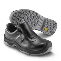 SIKA 202410 First, Komfort-Sicherheitsschuhe Slipper S2, Rutschhemmung SRC, Permair-Leder schwarz