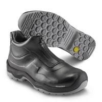 SIKA 202510 Front, Komfort-Sicherheitsschuhe Slipper high S2, Rutschhemmung SRC, Permair-Leder schwarz
