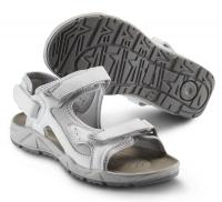 SIKA Motion Lady, Damen Funktions-Sandale 22207 für Beruf und Freizeit. 3x Klett, Leder weiß