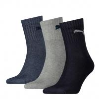 PUMA Socken Sport Crew Unisex, navy/grey/shadow, 3er-Pack