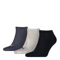 PUMA Socken Unisex Sneaker Plain, navy/grey/shadow, 3er-Pack