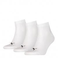 PUMA Socken Unisex Quarter Plain, weiß, 3er-Pack