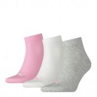 PUMA Damen Socken Quarter Plain, prism pink, 3er-Pack
