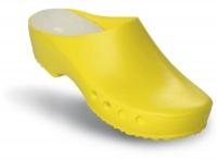 Schürr OP-Clogs Chiroclogs Classic gelb ohne Fersenriemen, Gr. 38  --SONDERPREIS--