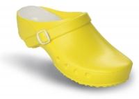 Schürr OP-Clogs Chiroclogs Classic gelb mit Fersenriemen