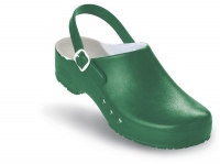 Schürr OP-Clogs Chiroclogs Professional grün mit Fersenriemen, Gr. 41  --SONDERPREIS--