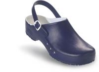 Schürr OP-Clogs Chiroclogs Professional blau mit Fersenriemen