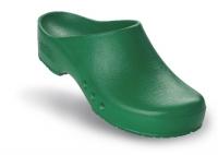 Schürr OP-Clogs Chiroclogs Spezial grün ohne Fersenriemen