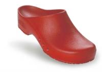 Schürr OP-Clogs Chiroclogs Spezial rot ohne Fersenriemen, Gr. 39  --SONDERPREIS--