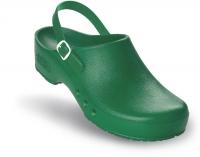 Schürr OP-Clogs Chiroclogs Spezial grün mit Fersenriemen