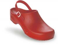 Schürr OP-Clogs Chiroclogs Spezial rot mit Fersenriemen Gr. 37  --SONDERPREIS--