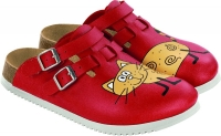 BIRKENSTOCK Clogs Kay rutschfeste Superlaufsohle Cat red -SONDERPREIS- Gr.35