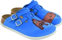 BIRKENSTOCK 582536 Clogs Kay Dog blue, rutschfeste Superlaufsohle,  Weichbettung, Birko-Flor