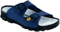 BIRKENSTOCK Professional 596050 + 596058 Pantolette Toulon ESD, blau Birko-Flor, Vegan